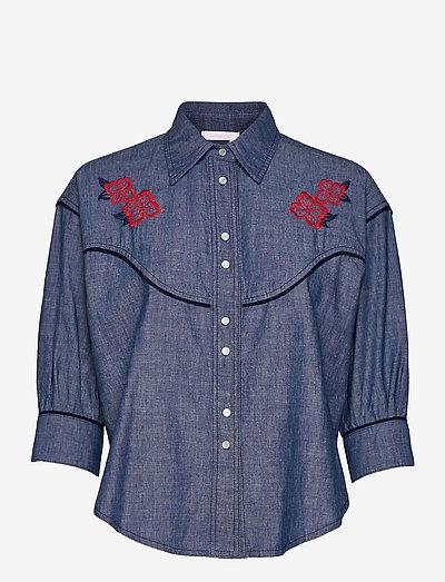 TOP - denimskjorter - faded indigo
