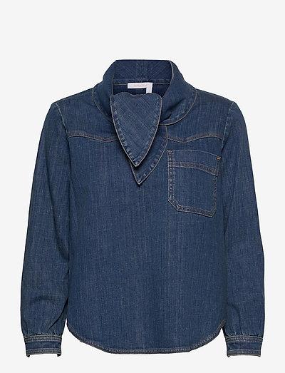 TOP - denimskjorter - harbor blue