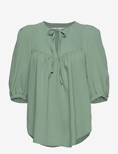 TOP - blouses met korte mouwen - bluish green