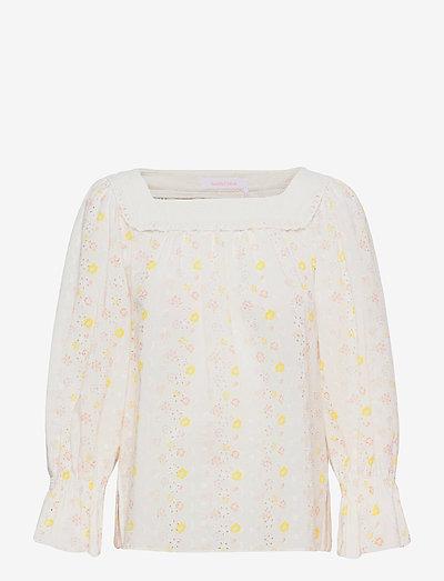 TOP - langermede bluser - multicolor white 1