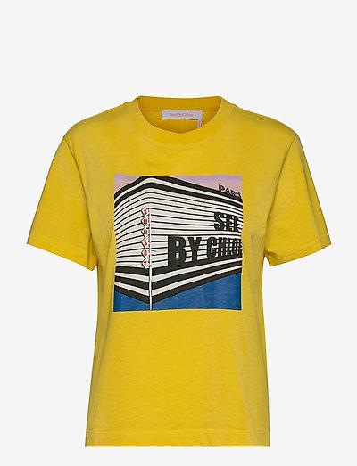 TOP - t-shirts - daffodil yellow