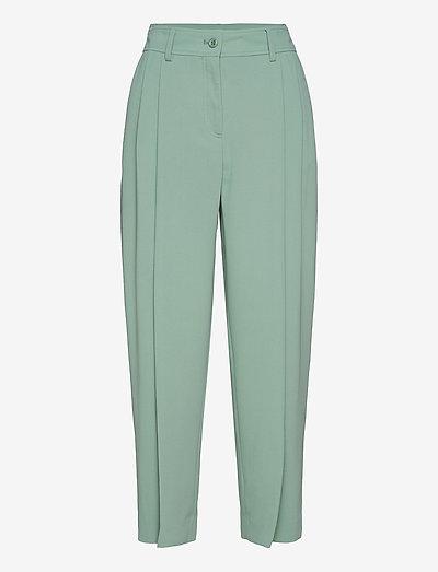 TROUSERS - rette bukser - bluish green