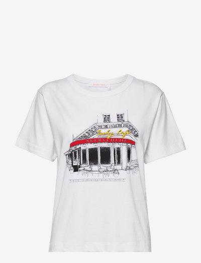 TOP - t-shirts - white
