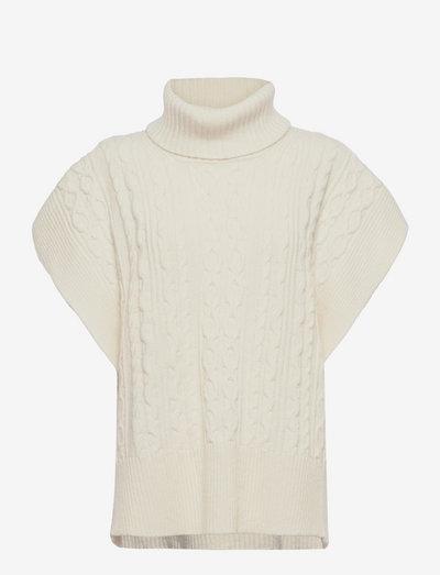 COAT - knitted vests - whisper white