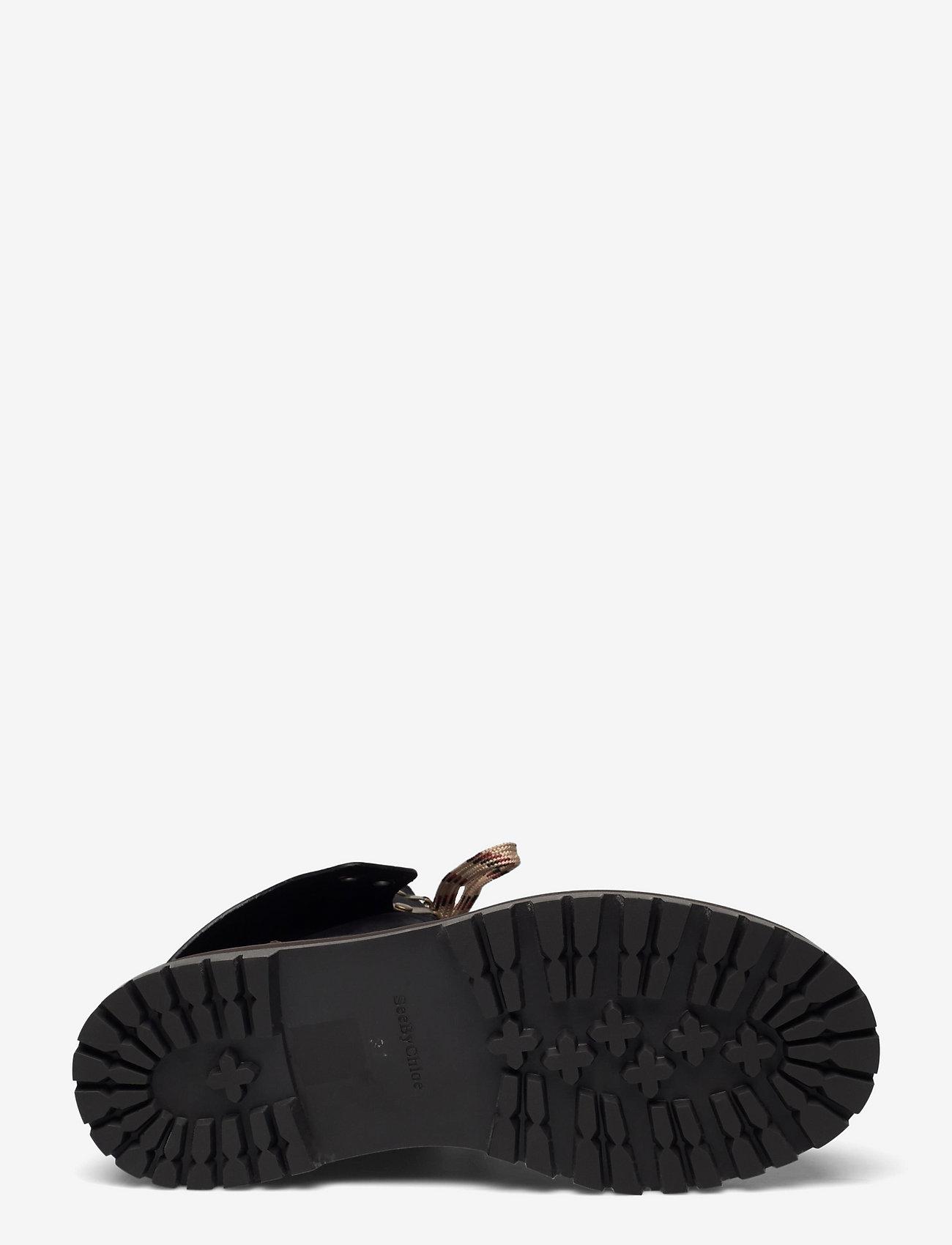 See by Chloé - FLAT ANKLE BOOTS - platte enkellaarsjes - black - 4