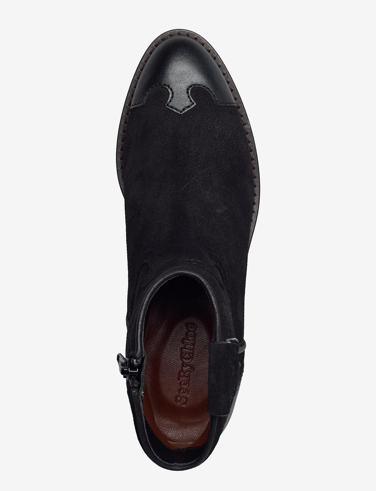 See by Chloé - COWBOY - flate ankelstøvletter - black - 3
