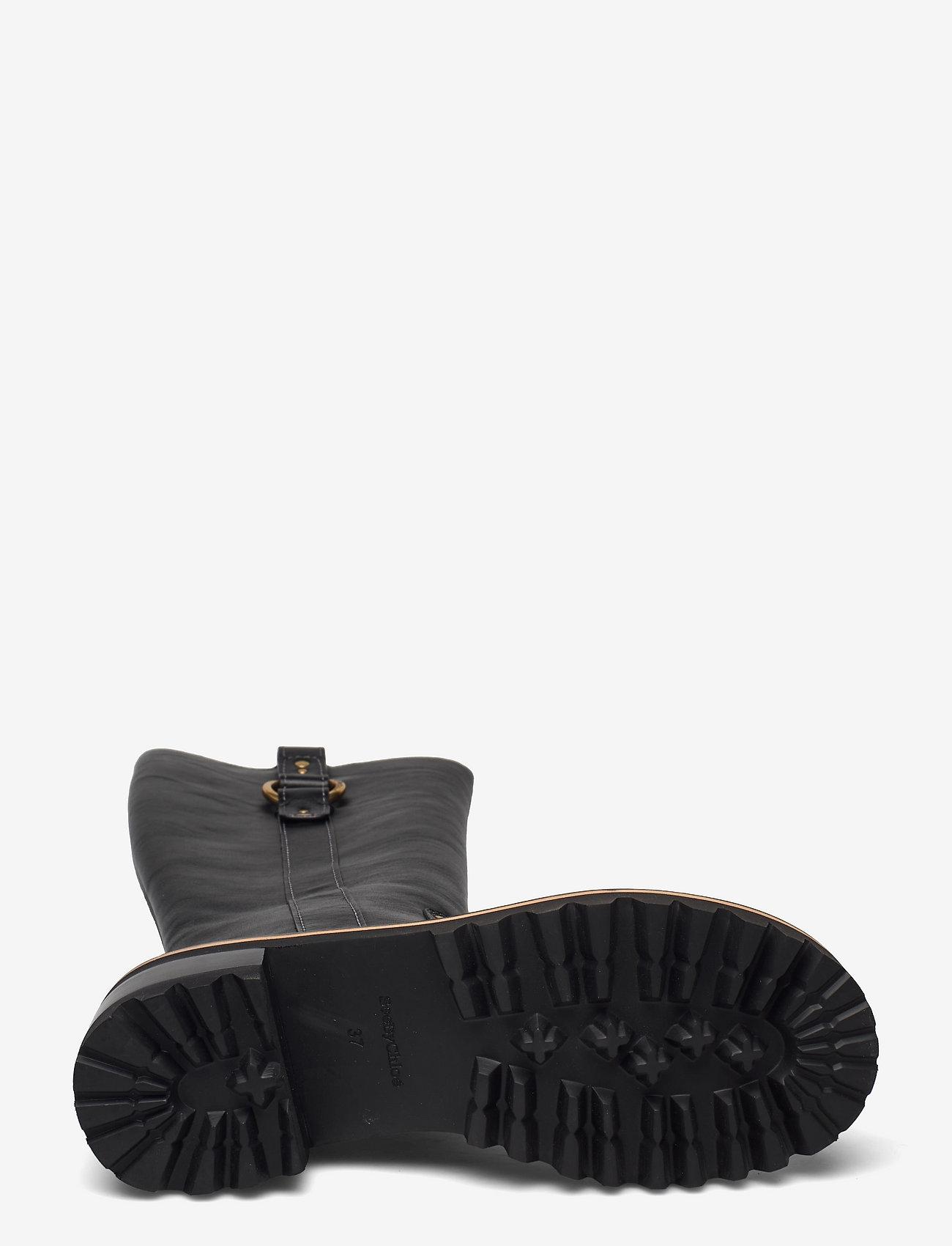 See by Chloé - FLAT BOOT - lange laarzen - black - 4