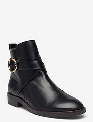 FLAT ANKLE BOOTS - BLACK