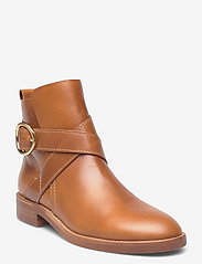 See by Chloé - FLAT ANKLE BOOTS - flate ankelstøvletter - cuoio - 0