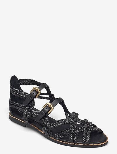 KATIE - platte sandalen - nero