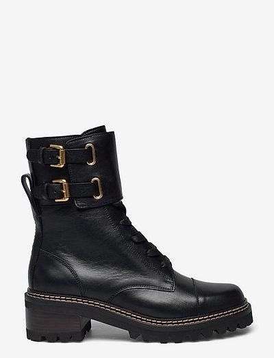 COMBAT - flate ankelstøvletter - texan black