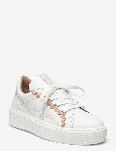 LOW-TOP SNEAKERS - lage sneakers - white - nude