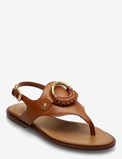 HANA - platte sandalen - cuoio