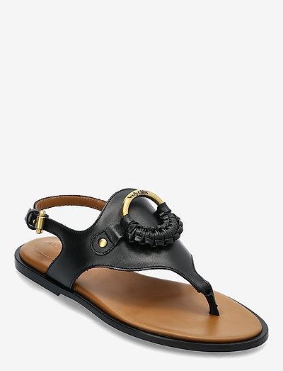 HANA - flat sandals - nero