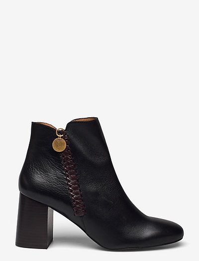 HIGH HEEL - ankelstøvler med hæl - black