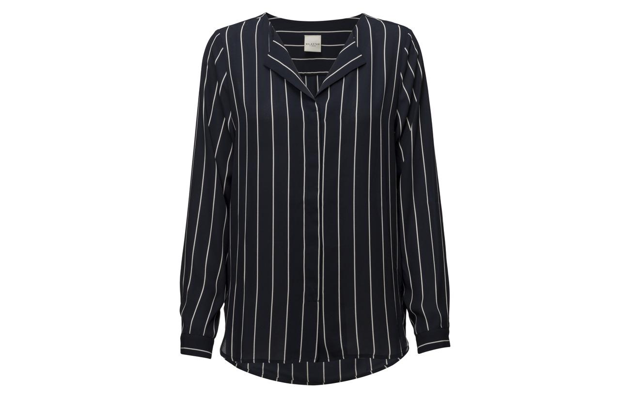 Équipement Ls Noos Stripe Femme Creme Selected Shirt Slfdynella fq0tWXwA