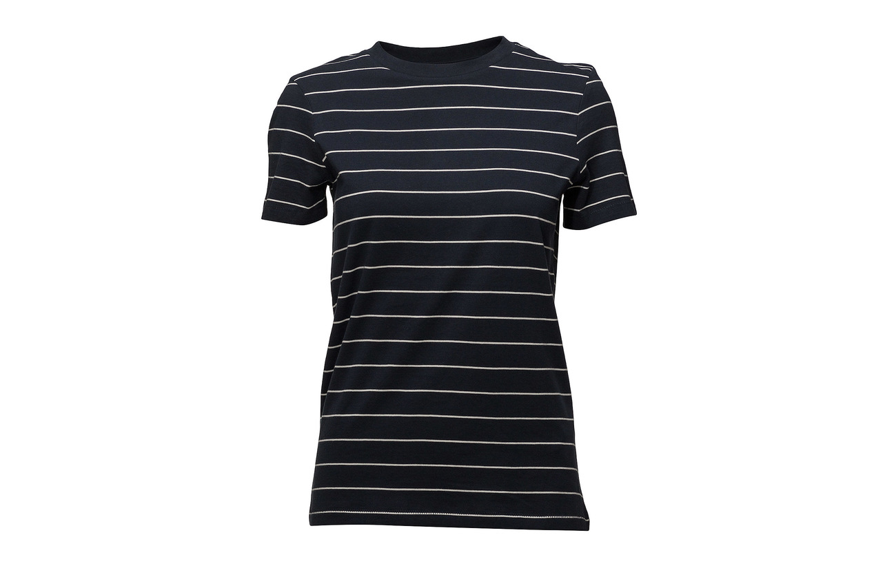 Femme Selected Slfmy Tee Coton Ss Rose Perfect Stripe Thin Noos Sepia 100 BWdrfrqxwn