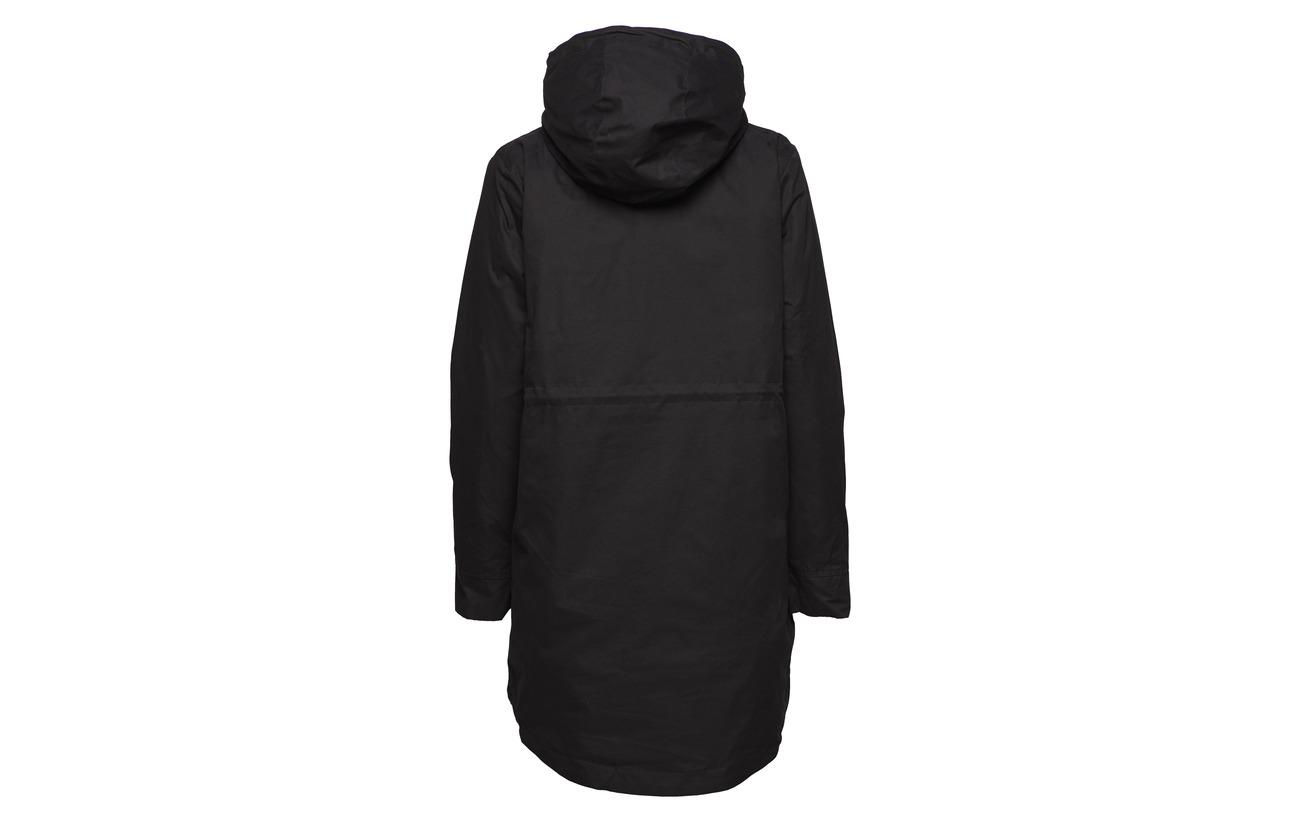 Slfpally Femme Black Selected Parka 35 Nylon Coton 65 B wUpnnz
