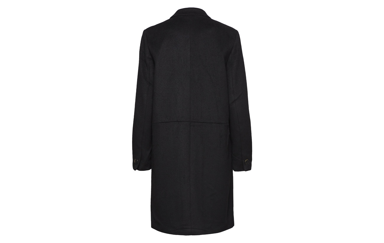 Coat Wool Laine B Femme Black Selected 50 Polyester Recyclé Slfboa ESqt6v