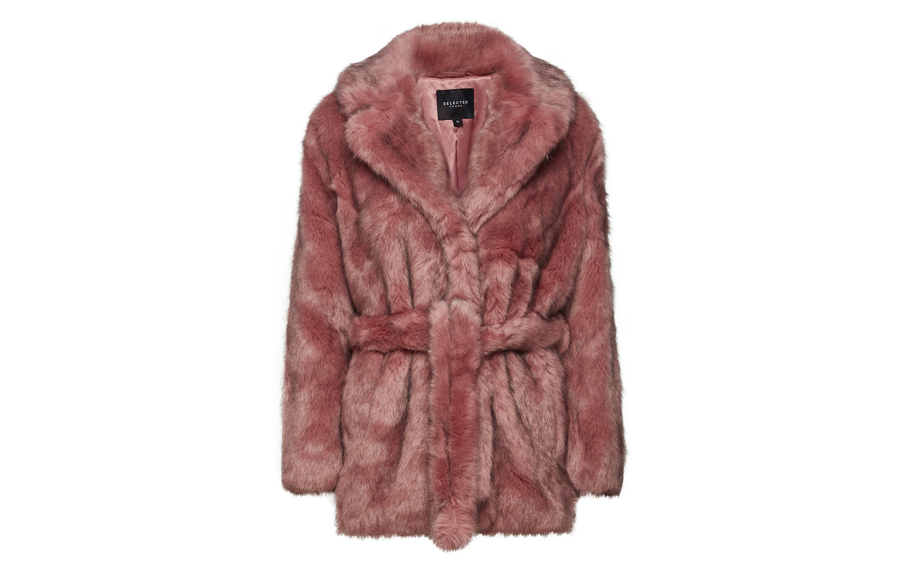 100 Femme Polyester B Fur Faux Selected Earth Slffury Red 0UHFFd