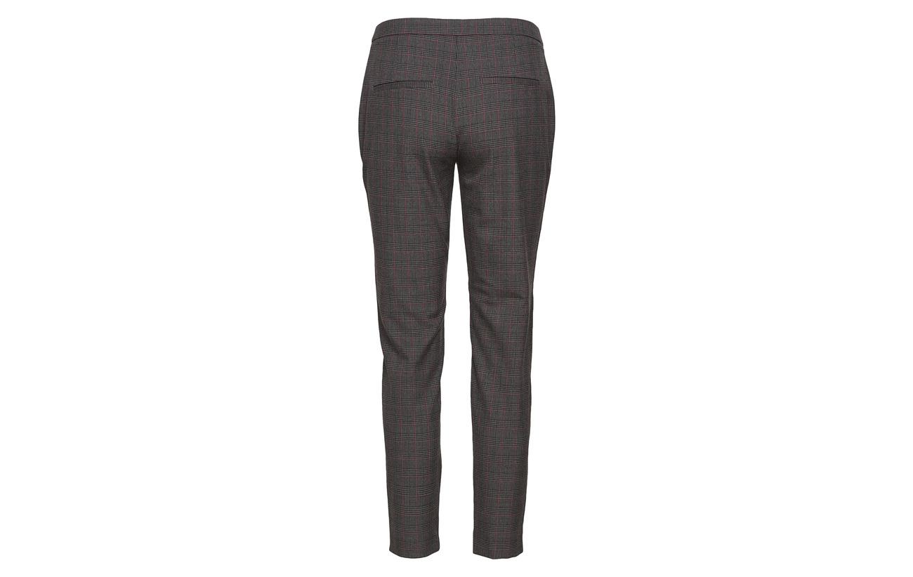 Slfmusu Grey Selected Pant Elastane Melange Femme Viscose Polyester 65 34 1 Dark Cropped Check Mw B rrqf58wB