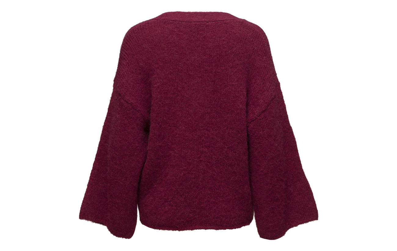 Alpaga 7 Knit Slfperi 16 Nylon 52 2 8 Elastane 30 Beet V Selected Acrylique Femme Red neck B EwFqPP