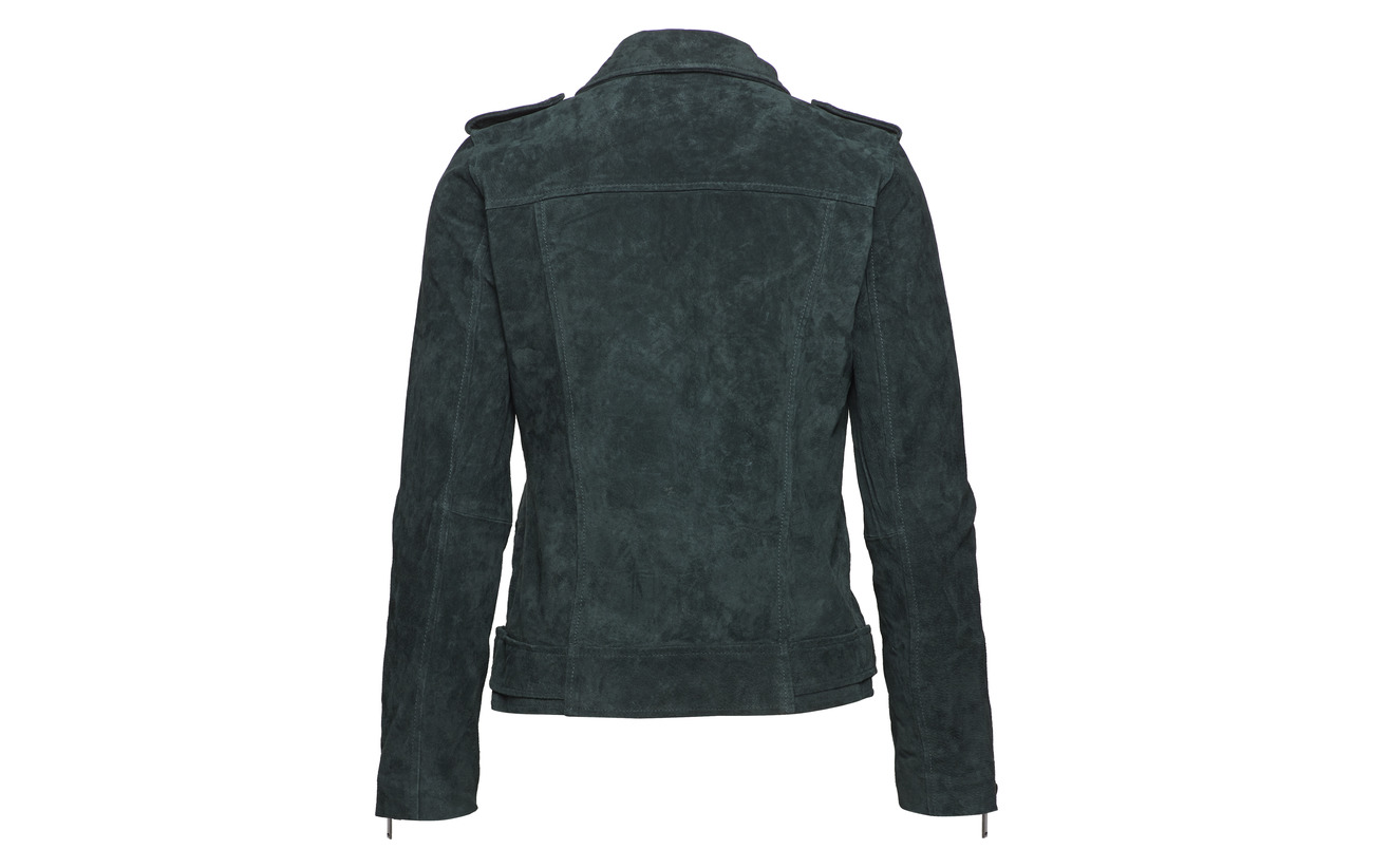 Slfsanella Selected Jacket 100 Cuir Femme Scarab Suede Pig 55rxtAnf4
