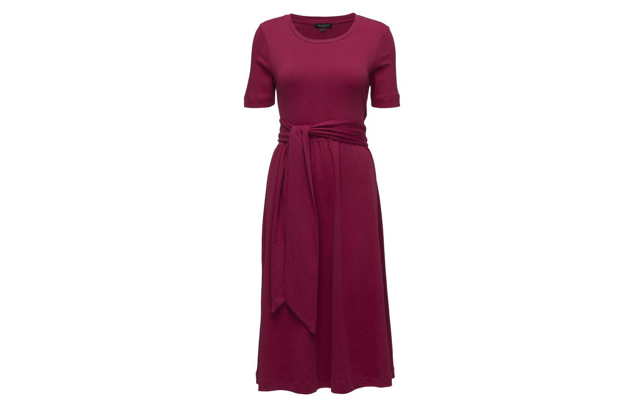 Coton Sapphire Dark Dress Organic 100 Femme Selected Ss Slfabine B Y886Tv