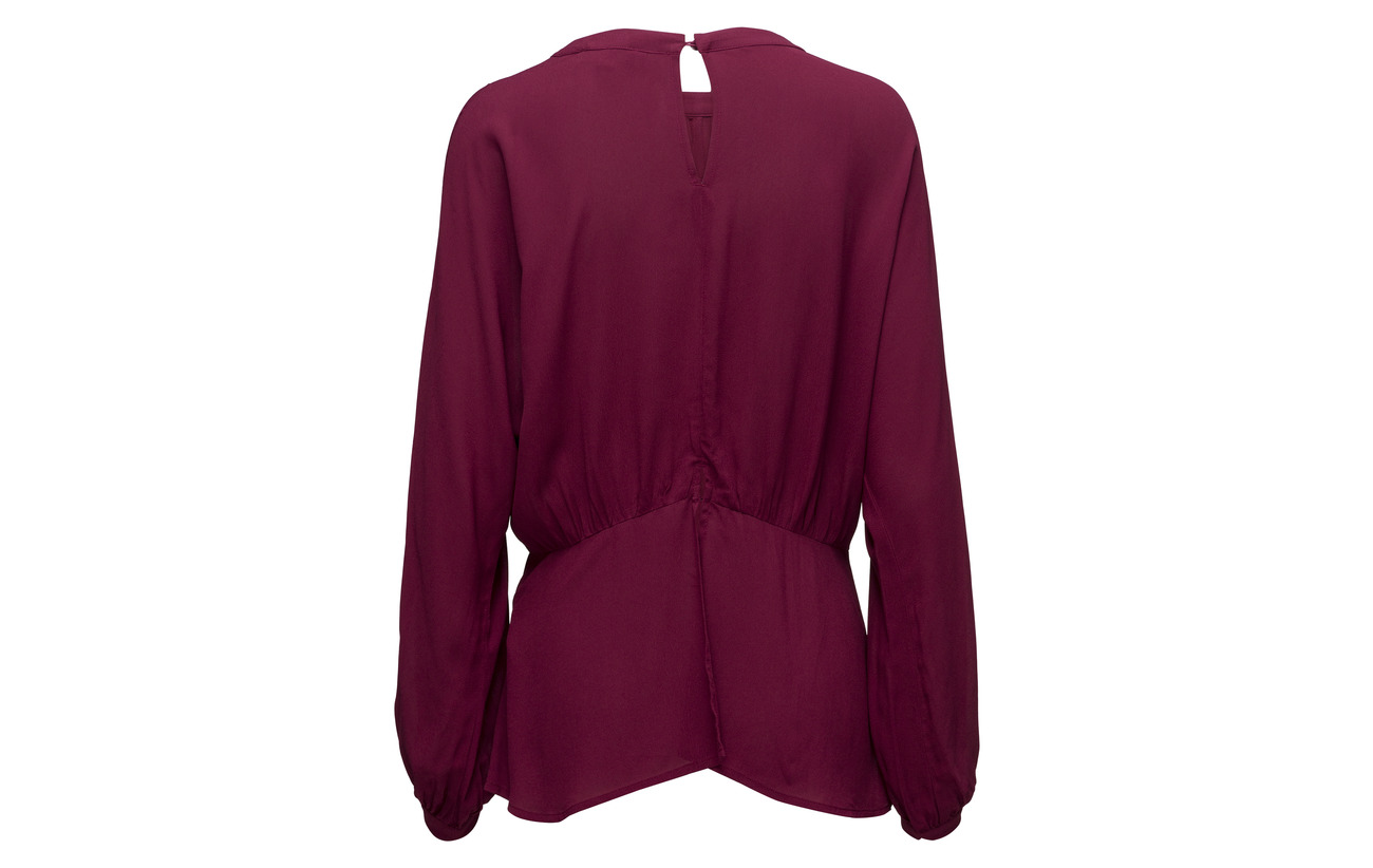Ls 100 Red Slfbaliva Top Selected Beet Femme Viscose B 0xR7EwqTnw