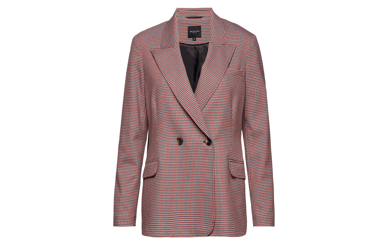 Selected Slfbeatrice True Recycledpolyester 34 Elastane Double B 63 Breasted Femme 3 Viscose Blazer Ls Red SwwaApqZ