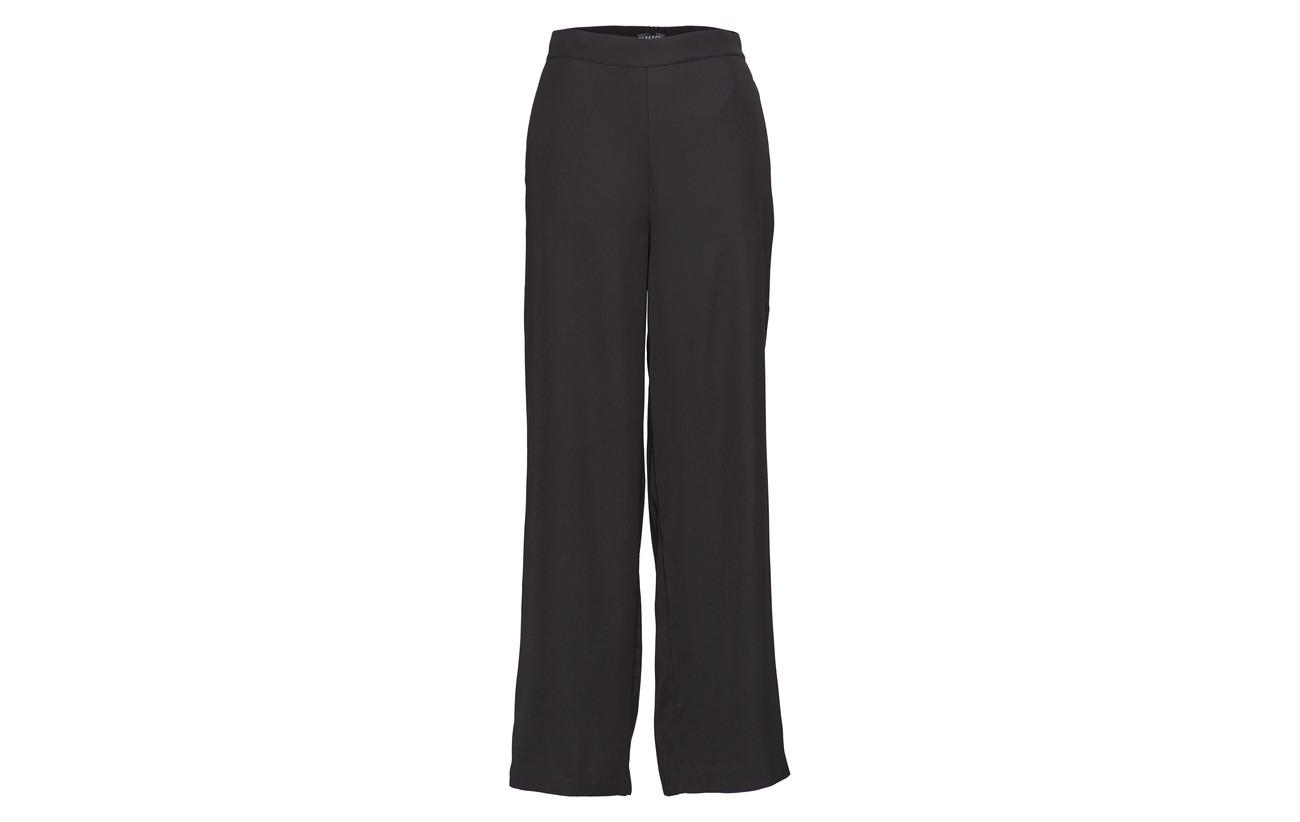 100 Wide Femme Pant Mw Selected B Slftulla Polyester Black SRn0Sxg