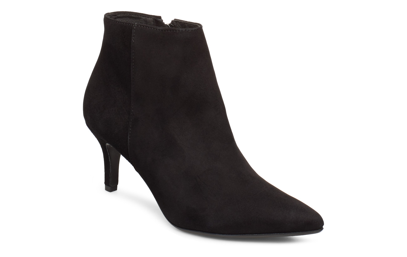 Selected Femme SLFLEA POINTY SUEDE HEEL BOOT B - BLACK