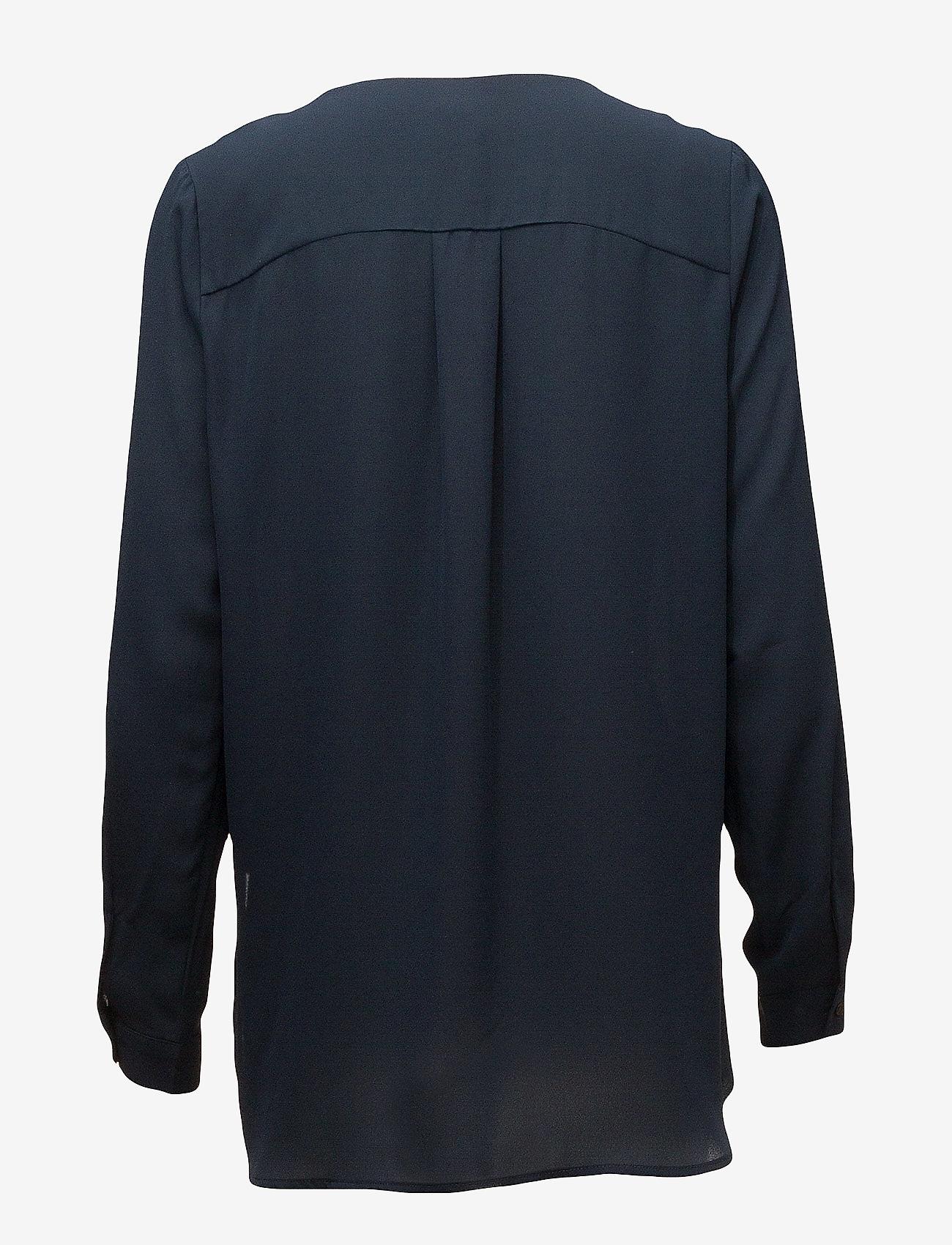 Selected Femme - SLFDYNELLA LS SHIRT NOOS - long sleeved blouses - navy blazer - 1