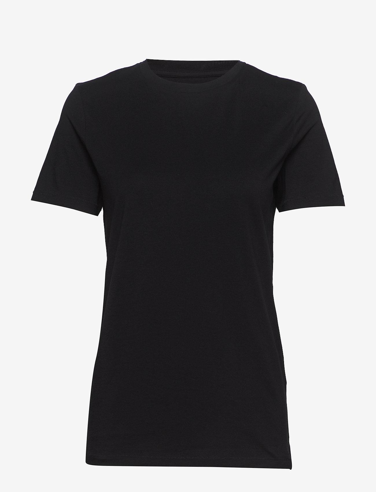 Selected Femme - SLFMY PERFECTS TEEOX CUT - t-krekli - black - 0