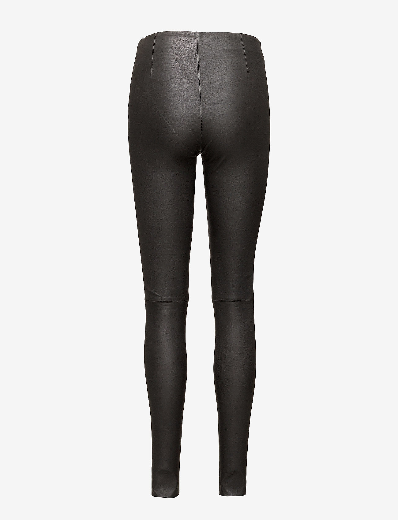 Selected Femme - SLFSYLVIA MW STRETCH LEATHER LEGGIN NOOS - nahka - black - 1
