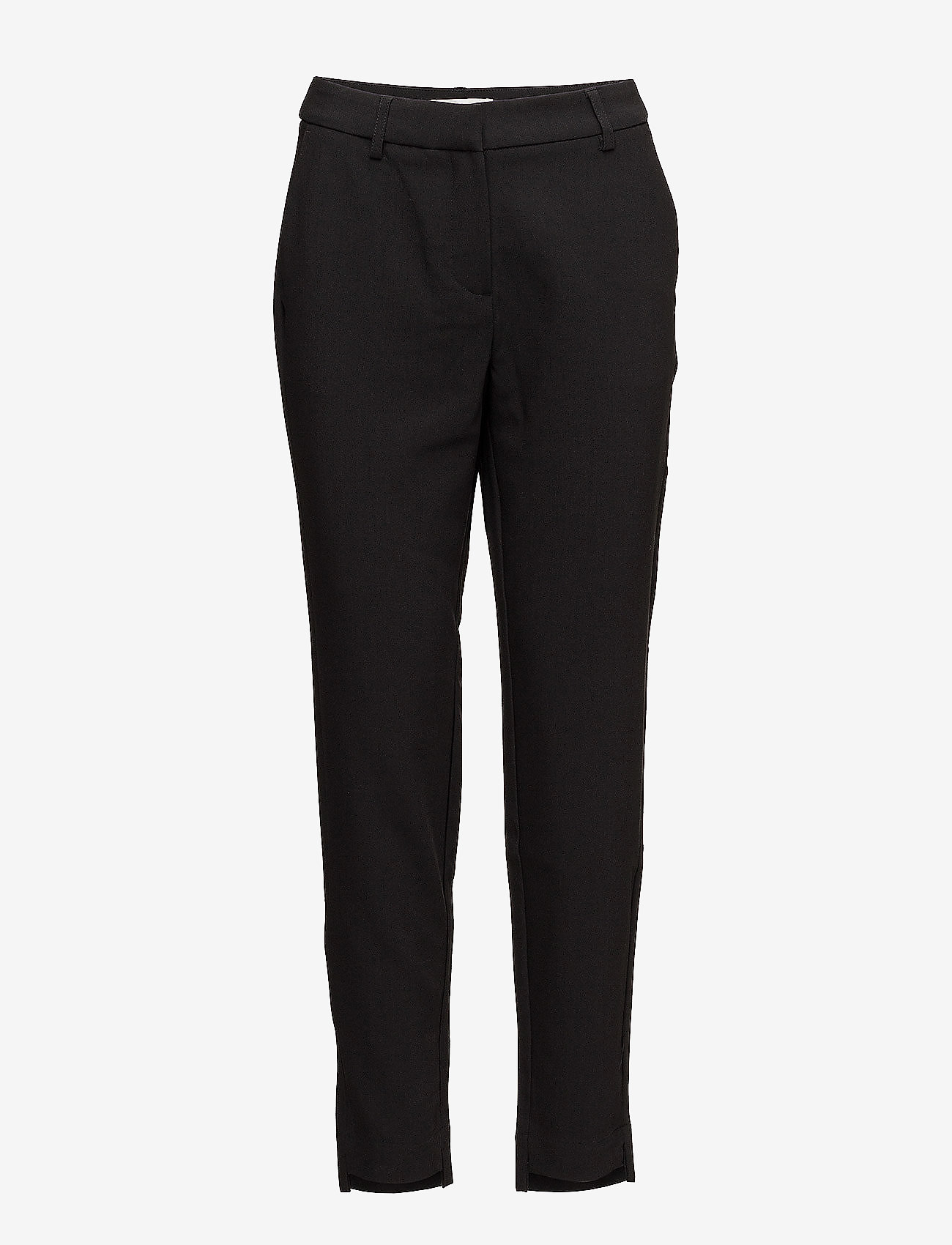 Selected Femme - SLFAMILA MW PANT NOOS - straight leg trousers - black - 0
