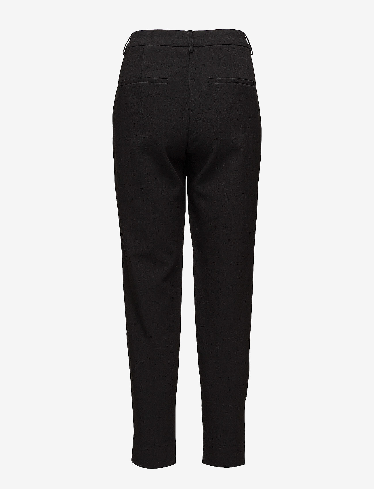 Selected Femme - SLFAMILA MW PANT NOOS - straight leg trousers - black - 1