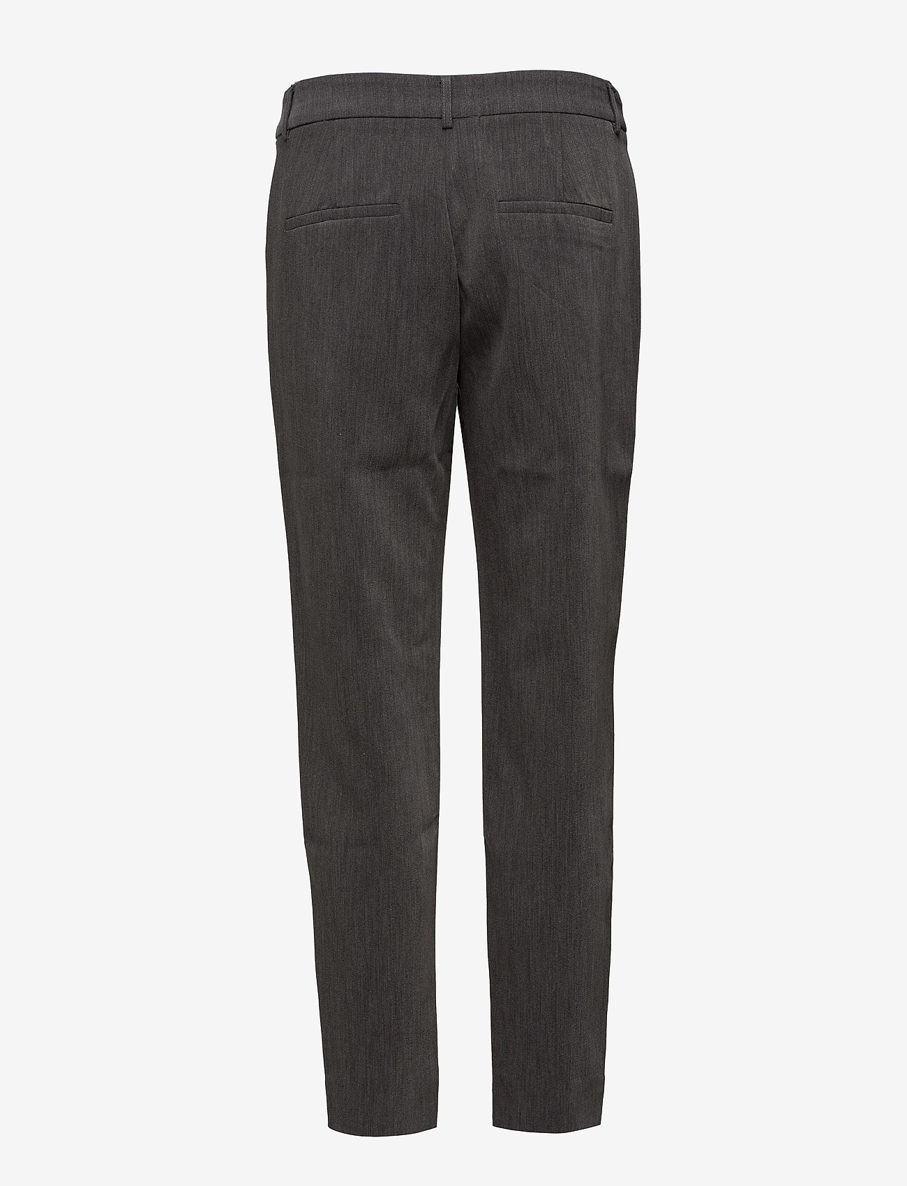 Selected Femme - SLFAMILA MW PANT NOOS - straight leg trousers - dark grey melange - 1