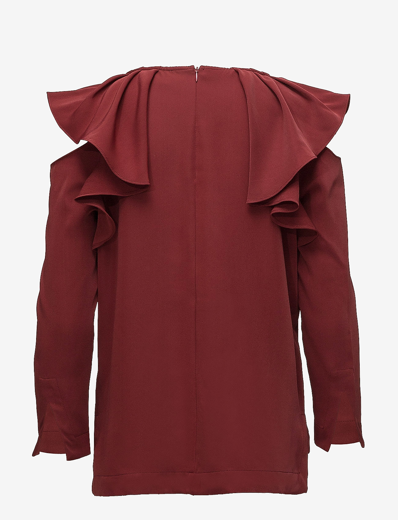 Selected Femme - SFKASSIA COLD SHOULDER LS TOP - long sleeved blouses - syrah - 1