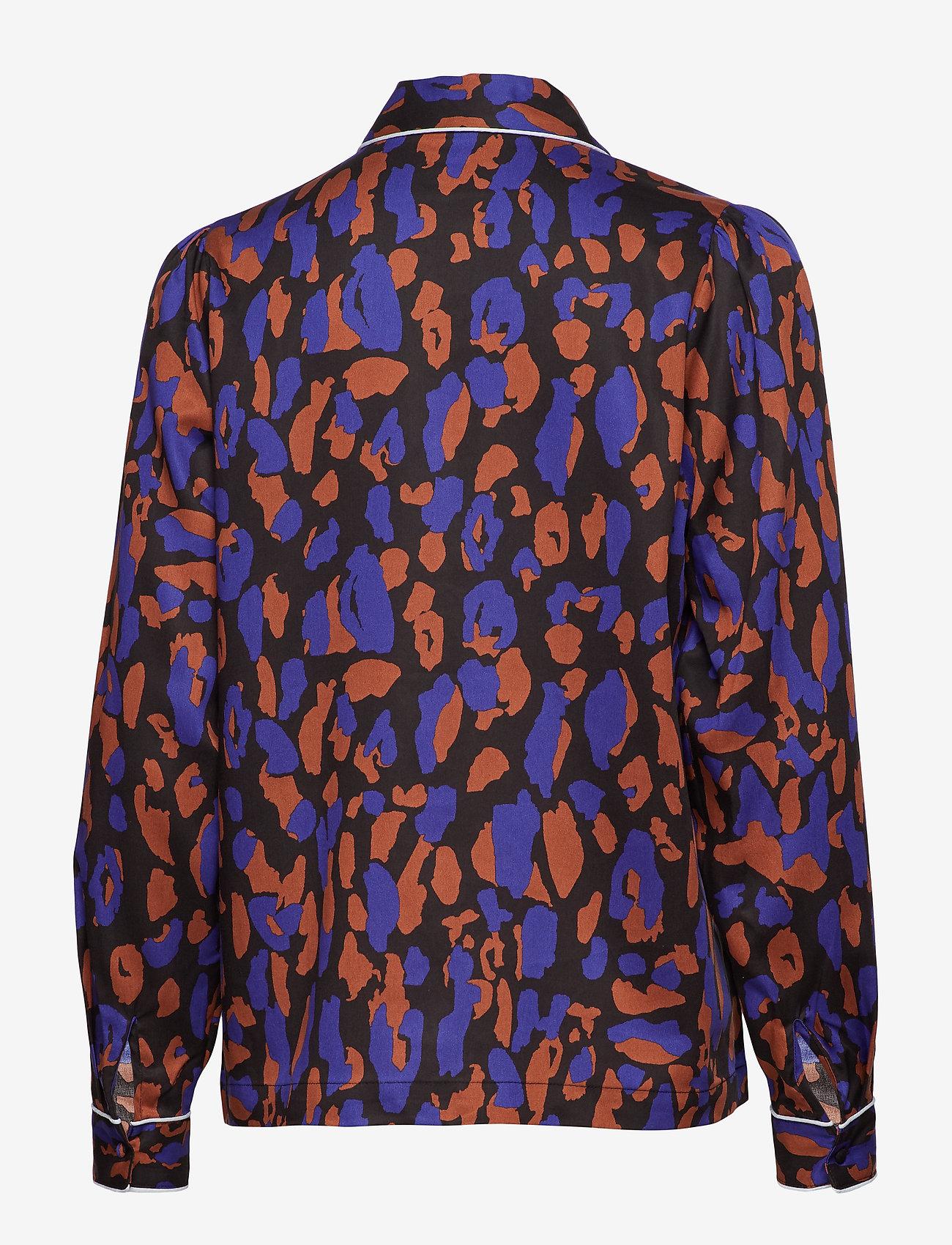 Selected Femme - SLFTESSA LS SHIRT B - long sleeved blouses - black - 1