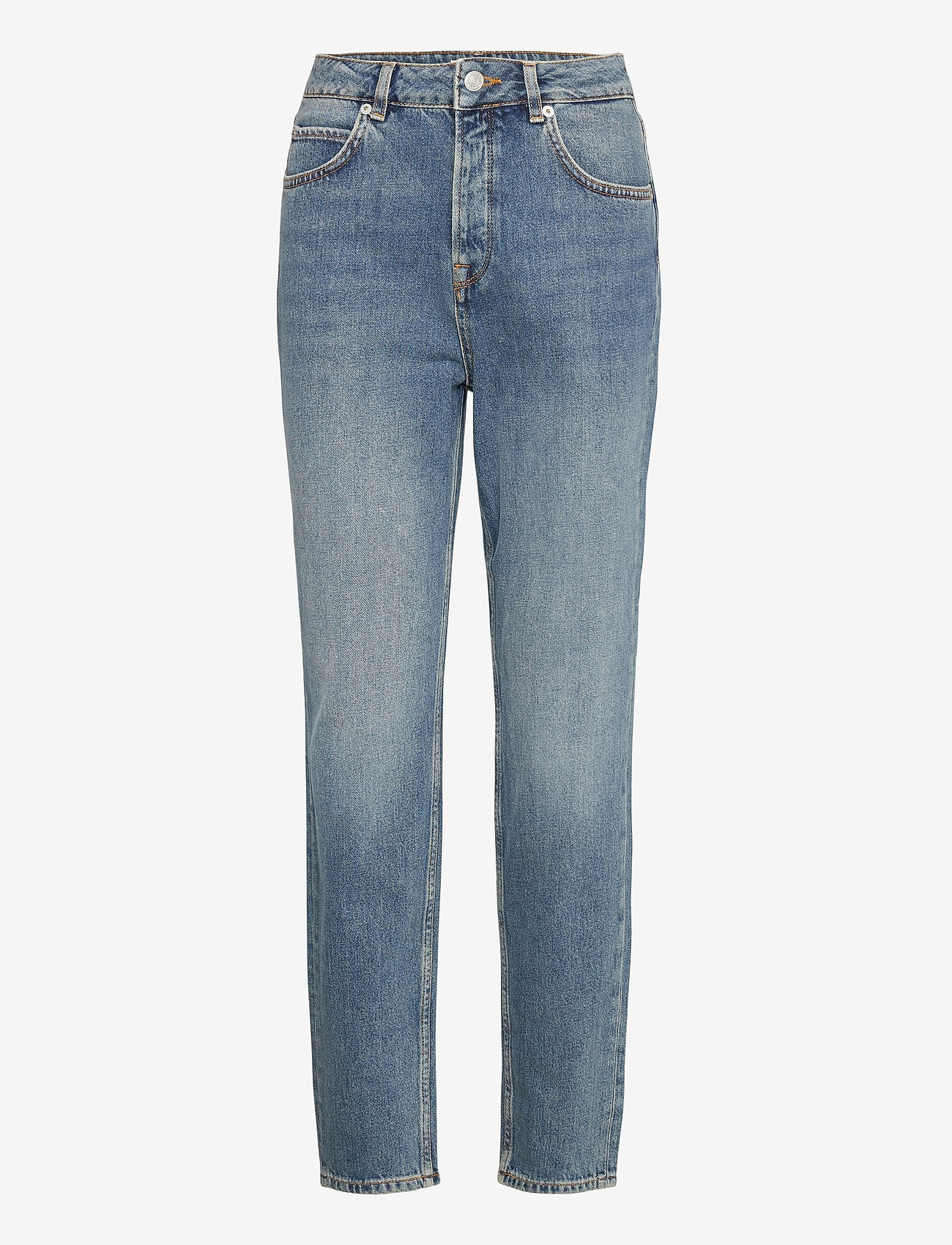 Selected Femme - SLFFRIDA HW MOM MIDLU JEANS U - straight jeans - medium blue denim - 0
