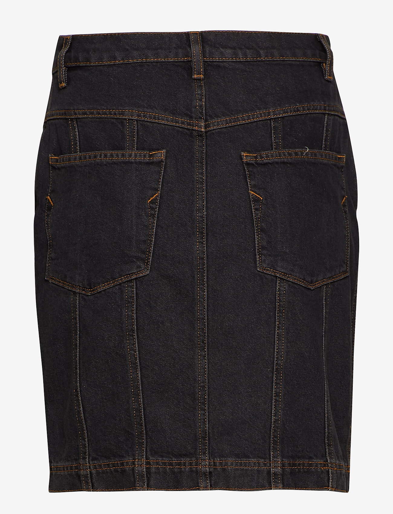 Selected Femme - SLFJOY HW DARK GREY DENIM SKIRT W - denimnederdele - grey denim - 1