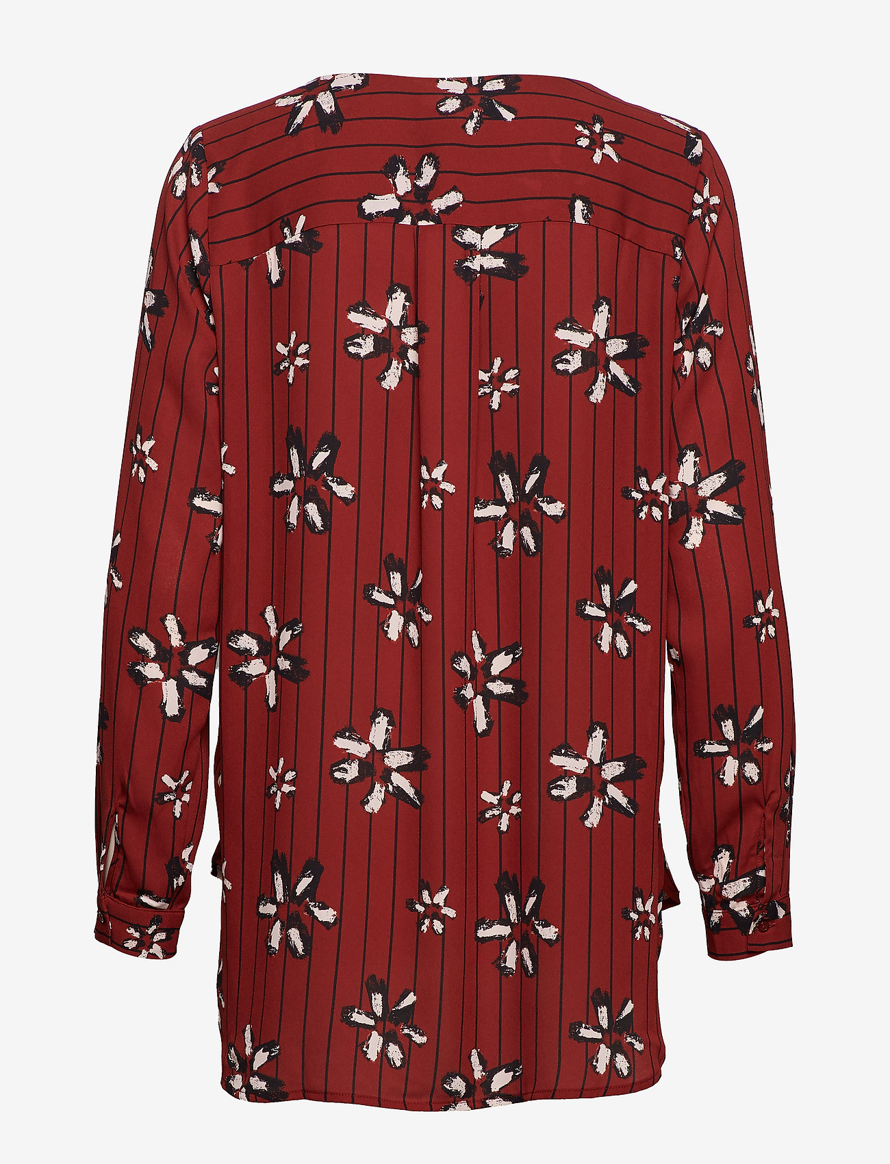 Selected Femme - SLFDYNELLA AOP LS SHIRT B - long sleeved blouses - fired brick - 1