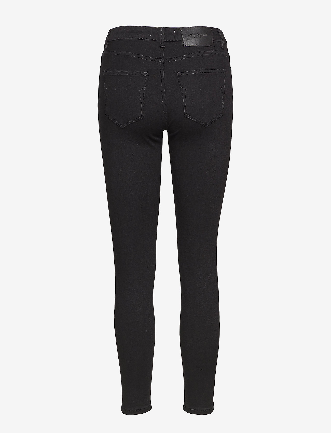Selected Femme - SLFIDA MW SKINNY  BLACK JEANS W - skinny jeans - black denim - 1