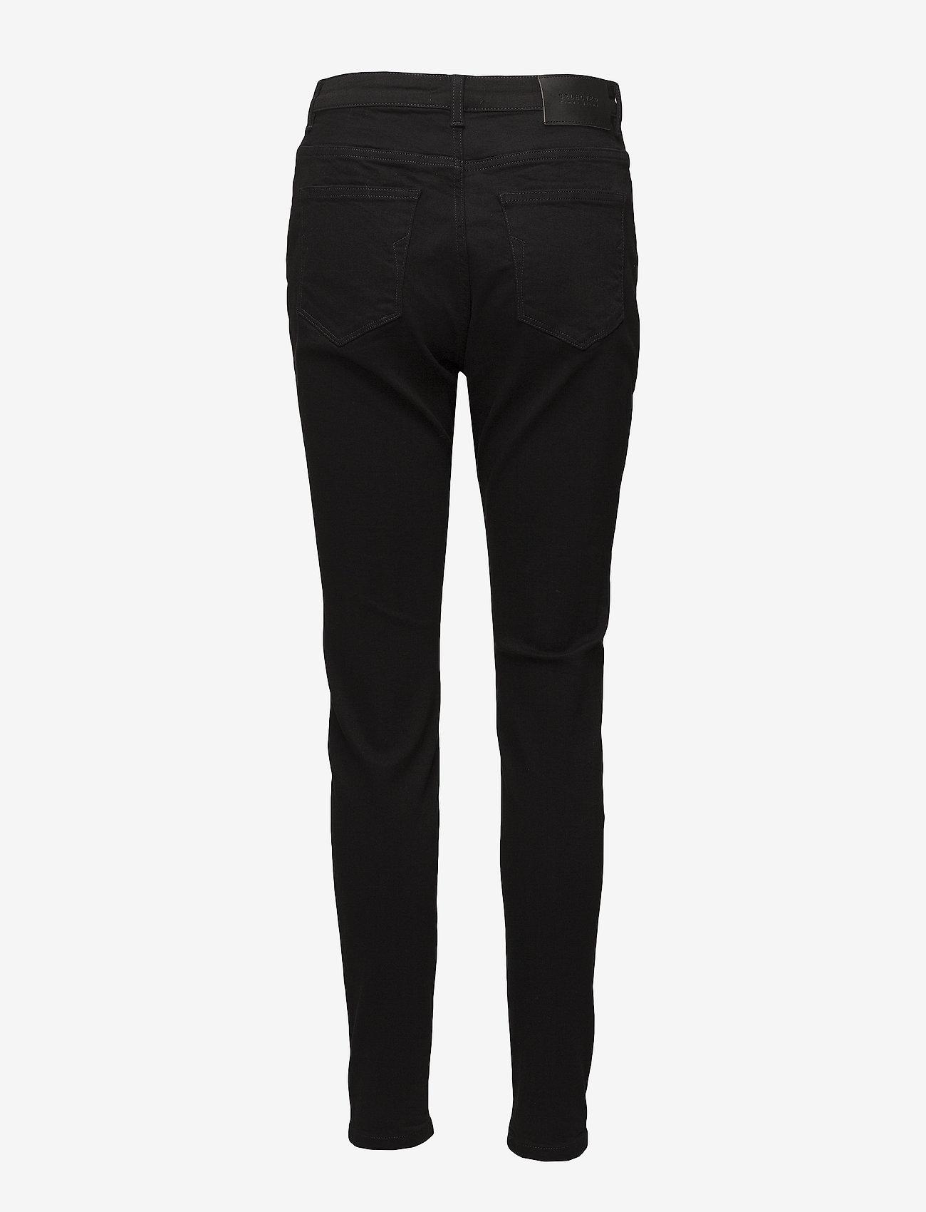 Selected Femme - SLFMAGGIE HW SKINNY BLACK JEANS W NOOS - pillihousut - black - 1