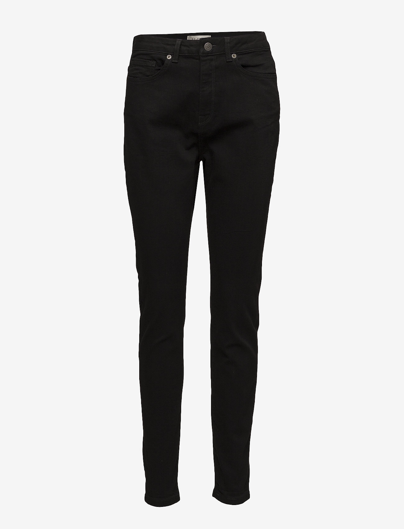 Selected Femme - SLFMAGGIE HW SKINNY BLACK JEANS W NOOS - pillihousut - black - 0