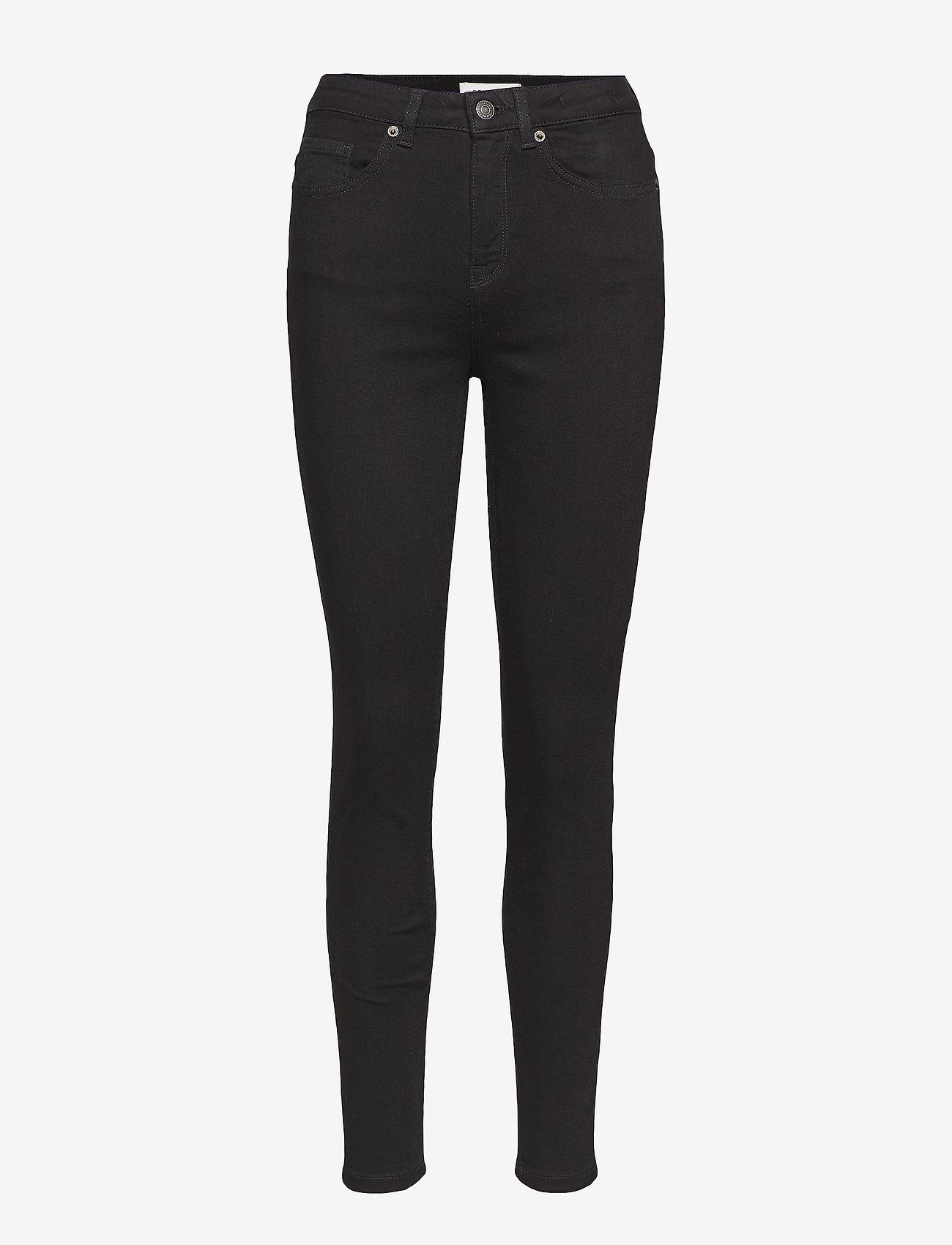 Selected Femme - SLFMAGGIE HW SKINNY BLACK JEANS W NOOS - spodnie rurki - black denim - 0