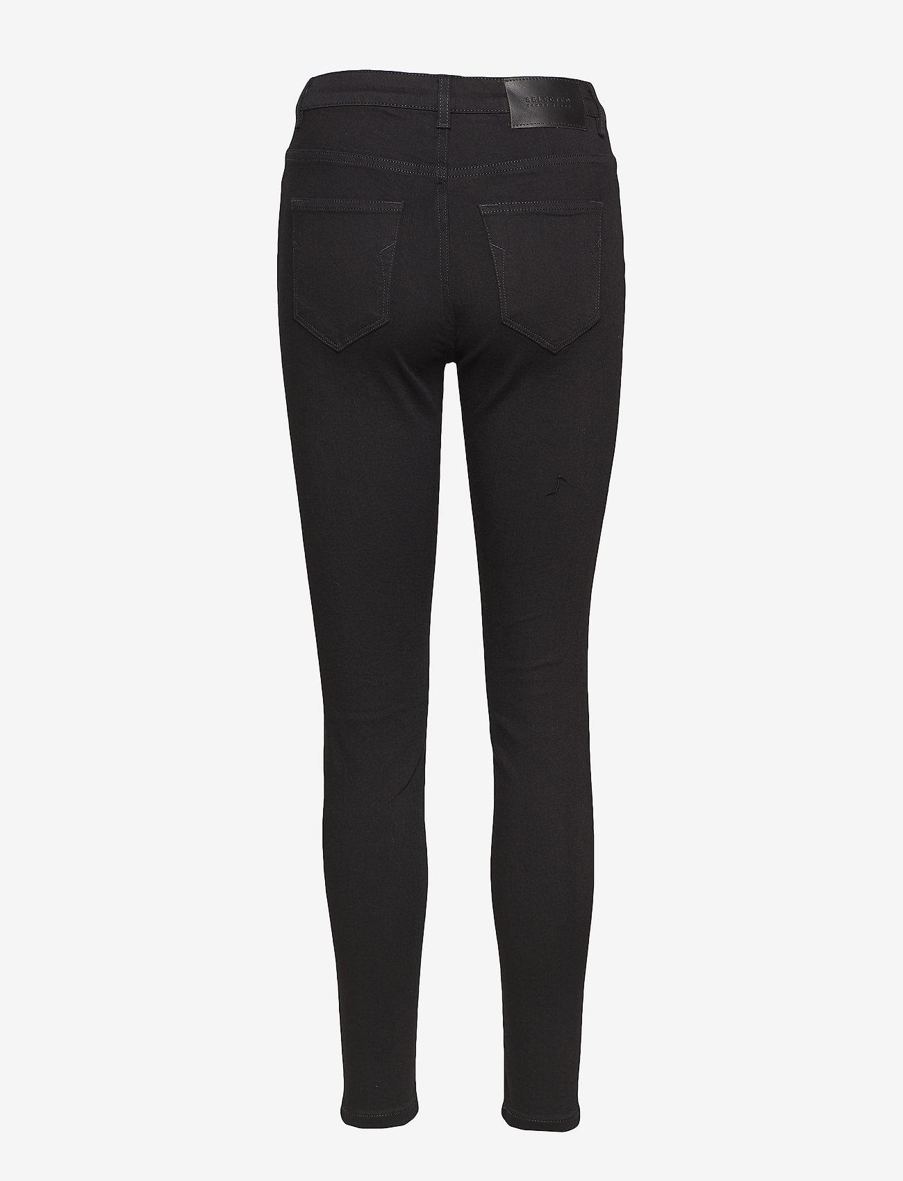 Selected Femme - SLFMAGGIE HW SKINNY BLACK JEANS W NOOS - spodnie rurki - black denim - 1