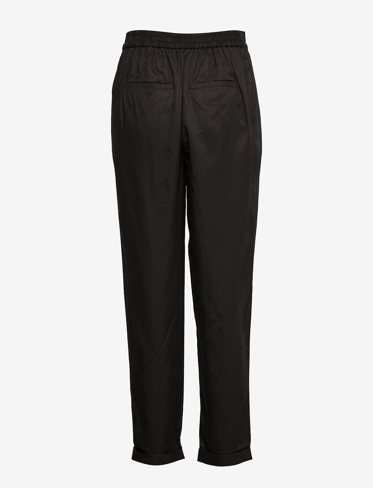 Selected Femme - SLFPORTA MW ANKLE PANT B - straight leg trousers - black - 1