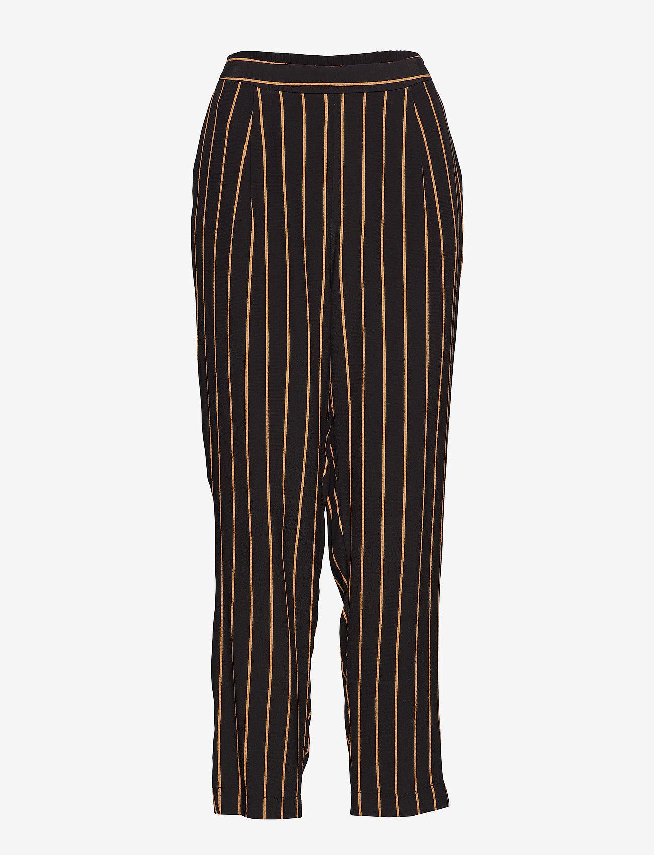 Selected Femme - SLFALESSA MW ANKLE PANT B - uitlopende broeken - black - 0